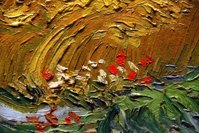 02C Wheat Field with Cypresses close up - Vincent van Gogh 1889 - New York Metropolitan Museum of Art